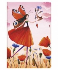 Paperblanks 2018 Poppy Field Diary, Mini, Lined/ 41801