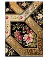 Paperblanks 2018 Filigree Floral Ebony Diary, Mini, Lined/ 41658