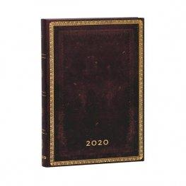 Бележник Paperblanks Diary 2020, Black Moroccan, Midi/ 1717