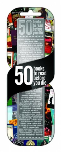"""Метален разделител – """"50 книги"""""""