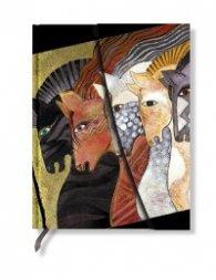Бележник Paperblanks Mystical Horses Midi Wrap, Lined/ 5392