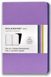 Бележник Moleskine Volant Notebook Ruled, Purple Large: Set of 2 [3384]