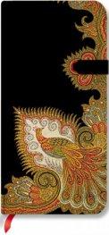 Бележник Paperblanks Swirling Peacock Ebony Slim, Lined / 7204