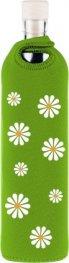 Бутилка FLASKA NEO DESIGN 0.500L: Зелен - бели маргаритки