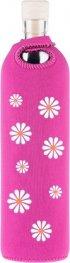 Бутилка FLASKA NEO DESIGN 0.500L: Розов - бели маргаритки
