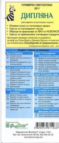 Примерен сметкоплан 2011 - Дипляна/ шестнадесето актуализирано издание