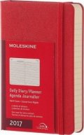 Бележник Moleskine 2017 Daily Planner, Pocket, Scarlet Red, Hard Cover [3182]