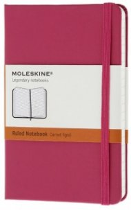 Бележник Moleskine Notebook Ruled Magenta Pocket [Hard Cover] [6392]