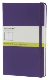 Бележник Moleskine Classic Hard Cover Pocket Plain Notebook Brilliant Violet [6446]