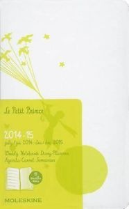 Бележник Moleskine 2015 Le Petit Prince Limited Edition Weekly Notebook 18 Month Large White Hard Cover [3227]