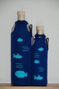 Бутилка FLASKA Neo Design 0.750L:Син - сини рибки