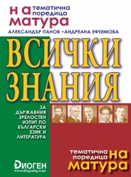 Всички знания за държавния зрелостен изпит по Бълг.език и литература