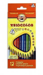 """Комплект триъгълни цветни моливи """" Триокалър"""" 12 цвята 3132"""
