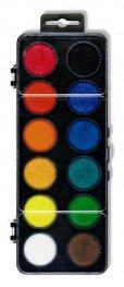 Комплект водни бои 30 мм., 12 цвята /черна кутия/